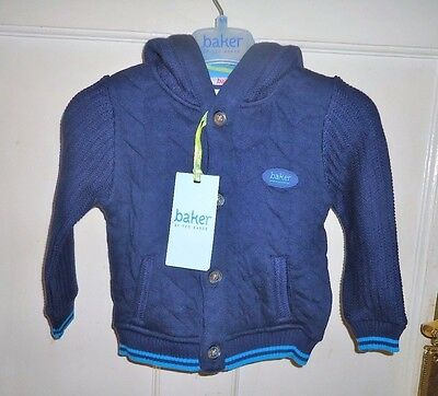 Ted Baker Blue Hooded Button Up Cardigan Age 9-12 Months- New With Tag