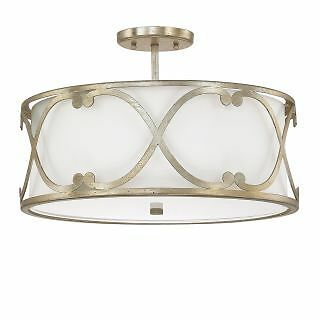 "Donny Osmond Home 4743WG-610 3 Light 18"" Wide Semi-Flush Ceiling Fixture"