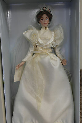 Franklin Mint Lily Gibson Girl Lenox Bride Vinyl Portrait Doll NIB RARE 15""