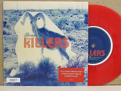 """**ultra Low Limited Edition #0007** The Killers- Bones 7"""" Single *red Vinyl Mint"""