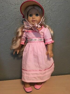 American Girl Caroline Doll with Dress and Hat Retired
