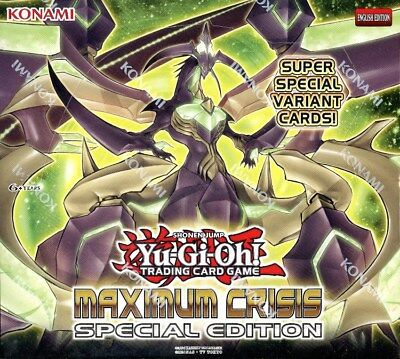 Yugioh Maximum Crisis Special Edition Booster Box Blowout Cards