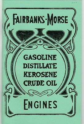Fairbanks-Morse Gas Engine Information Manual Book Distillate Kerosene Crude Oil