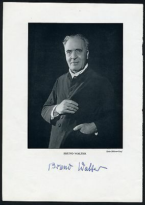 Bruno WALTER (Conductor): Signed 1955 Program Photograph