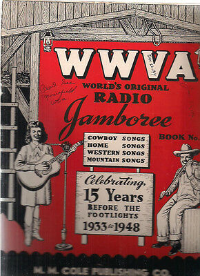 WWVA World's Original Radio Jamboree Cowboy & Western Songs magazine #2 (1948)