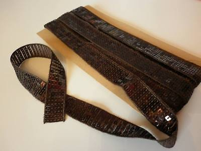 OVER 5 METERS of 25mm BROWN SEQUIN TRIM--NEW--