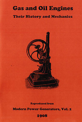 Gas Oil Engines History & Mechanics Hit Miss Motor Book Manual Diesel Stationary