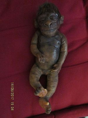 ooak Button nursery baby Monkey/Ape from my collection, KOKO with certificate