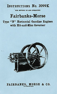 Fairbanks Morse Gas Engine Motor Type N Hit Miss Governor 2099K Flywheel Igniter