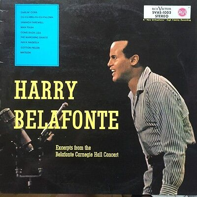 LP Harry Belafonte Excerpts From The Belafonte Carnegie Hall Concert RCA