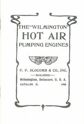 Wilmington hot air pumping engines booklet hit & miss