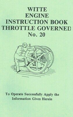 Witte Throttle Governed Instruction Manual  hit & miss