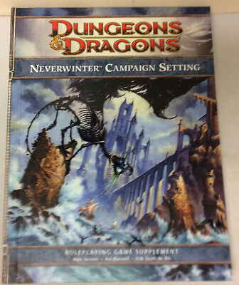 D&D Dungeons & Dragons 4th Edition Neverwinter Campaign Setting w/Map