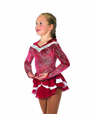 New Jerrys Competition Skating Dress 36 Icy Berry Made on Order