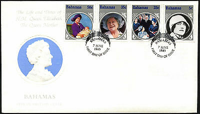 Bahamas 1985 The Queen Mother FDC First Day Cover #C42349