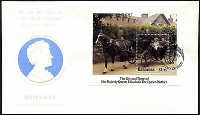 Bahamas 1985 The Queen Mother M/S FDC First Day Cover #C42350