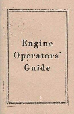 Engine Operators Guide Gas Motor Flywheel Hit & Miss Instruction Book Manual