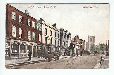 High Street General Post Office High Barnet London Middlesex 13 Aug 1906 Old PC