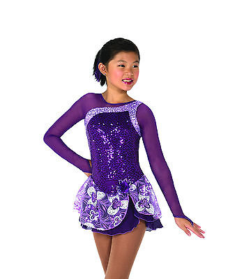 New Jerrys Competition Skating Dress 45 Tryst Of Amethysts Made on Order