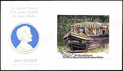 Mauritius 1985 The Queen Mother M/S FDC First Day Cover #C42364