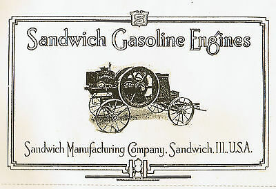 Sandwich Gas Engine Motor Catalog Manual Book Hit Miss Buzz Saw Wico EK Ignitor