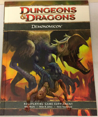 D&D Dungeons & Dragons 4th Edition Demonomicon - Hardcover d20