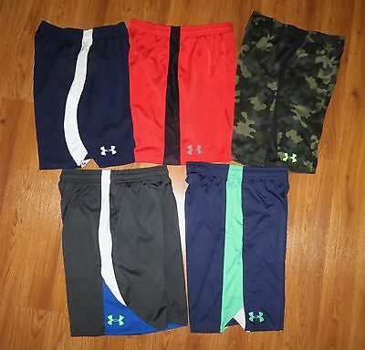 Lot 5 Pair Boys UNDER ARMOUR Extreme Camo Loose Athletic Shorts YLG Large 14/16