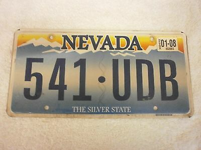 American Nevada The Silver State Jan 2008 Graphic # 541 Udb Number Plate