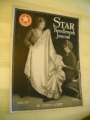 STAR NEEDLEWORK JOURNAL  Antique 1919, 20 pg Crochet Tatting Magazine LITHOGRAPH