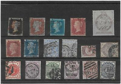 Great Britain Stamps Penny Black Onwards Queen Victoria Nice Used Collection