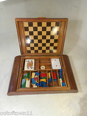 Vintage Art Deco Games Box , Playing Cards  ,  ref 2830