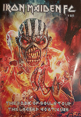 Official Iron Maiden Fc Fan Club Magazine Book Of Souls Tour Issue 105 Trooper