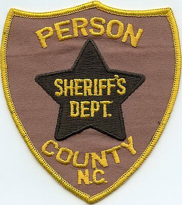 old vintage PERSON COUNTY NORTH CAROLINA NC SHERIFF POLICE PATCH