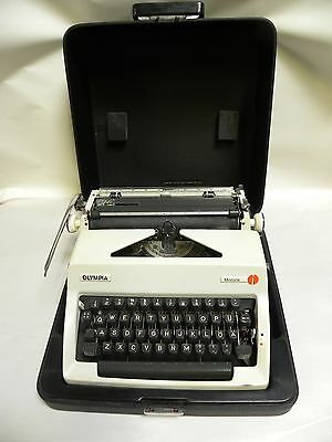 Vintage Olympia Monica Portable Manual Typewriter (A25)