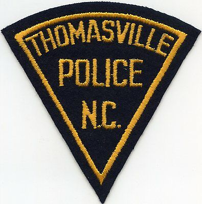 old vintage felt THOMASVILLE NORTH CAROLINA NC POLICE PATCH