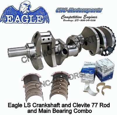 LS1 LS2 LS3 LS6 4.000 Stroke Stroker Crankshaft Eagle 24T with Bearings