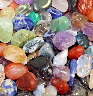 Bulk Lot 1/2 Lb Tumbled Gemstones Crystals Mix Rocks Stones Grade A Natural