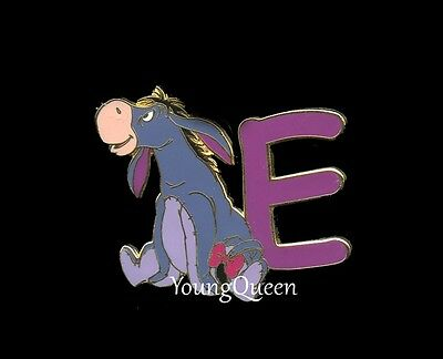 Disney Alphabet Letter E Eeyore Pooh's Friend Disneyland Pin