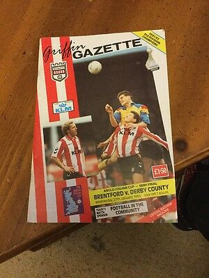 Brentford V Derby County 27 Jan 93 Anglo Italian Cup Semi Final