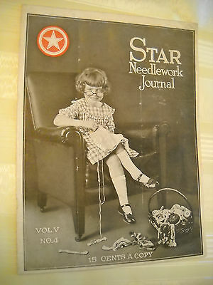 STAR NEEDLEWORK JOURNAL  Antique 1920, 20 pg Crochet Tatting Magazine LITHOGRAPH