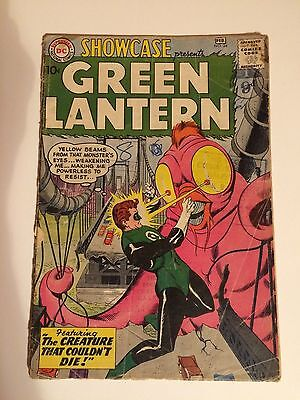 SHOWCASE #24 KEY ISSUE, 3RD GREEN LANTERN, CREATURE COULD NOT DIE, 1960, awesome