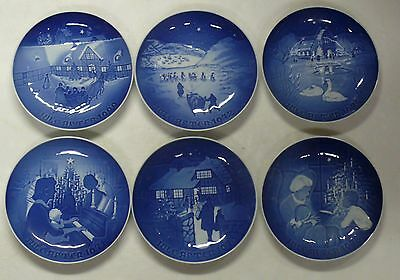 B & G COPENHAGON, DENMARK >> LOT OF SIX COLLECTABLE PLATES >> FREE SHIPPING  c2
