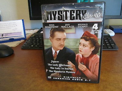 Mystery 4 Feature Films, Jigsaw, The Lady In Scarlet + 2 Free Shipping