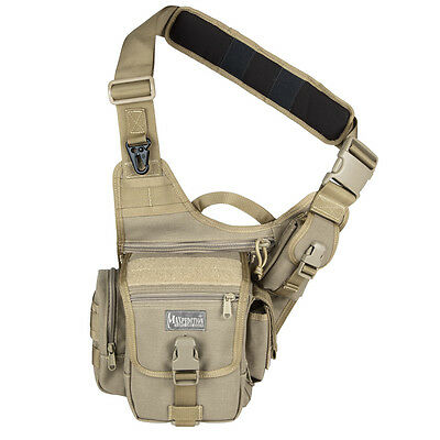 "Maxpedition 0403K Soft Khaki Fatboy Versipack 8""X6.5""X3"" Side Sling Gear Bag"
