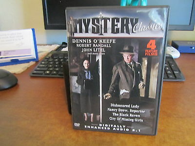 Mystery 4 Feature Films, Dishonored Lady,the Black Raven+ 2 Free Shipping