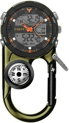 Dakota Watch 37252 II Analog & Digital Clip Watch Moss Green