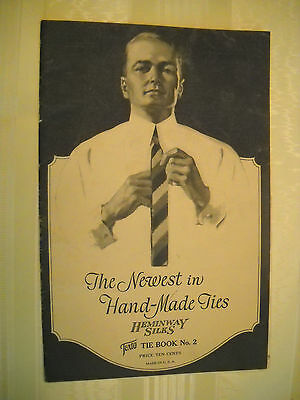 HEMINWAY SILKS Hand-Made TIES  Antique 1920's 16 pg CROCHET book LITHOGRAPH No.2