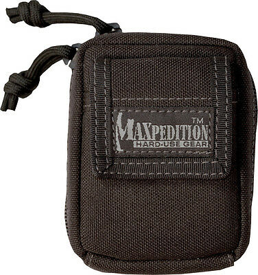 "Maxpedition MX2301B Barnacle Pouch Black 4.5"" x 3.5"" x 1.5"" Low-Profile Pocket"