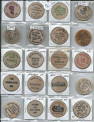 20 All Different Wooden Nickels Lot #3