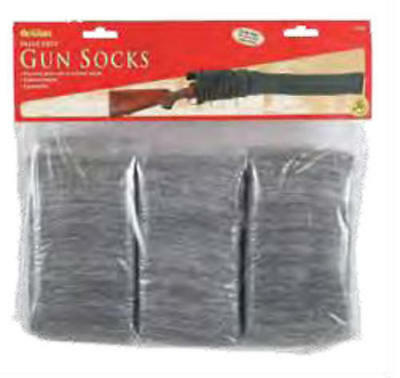 """Allen 13160 Gray Soft Knit 52"""" Silicone Treated Gun Sock (6 Pack)"""